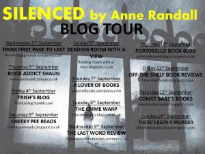 Silenced blog tour banner