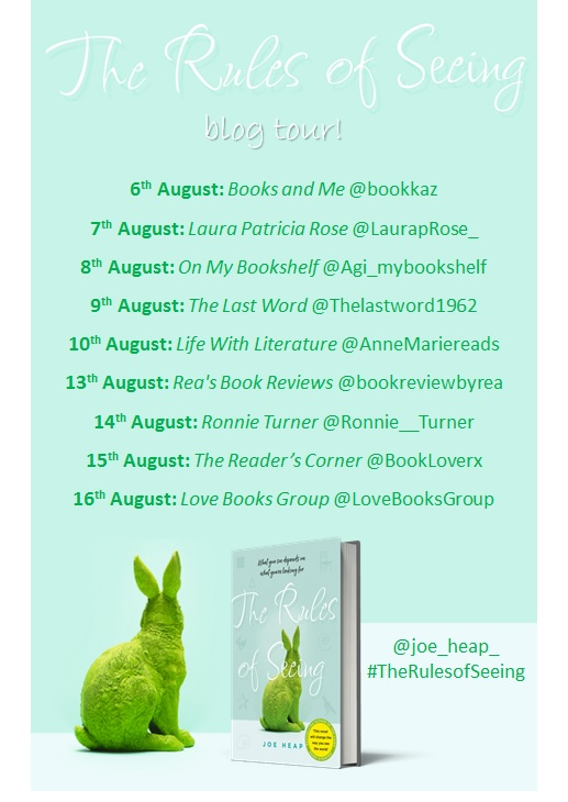 The Rules of Seeing blog tour banner