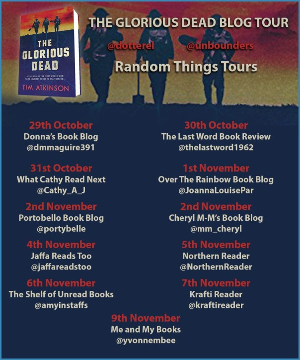 The Glorious Dead Blog Tour Poster