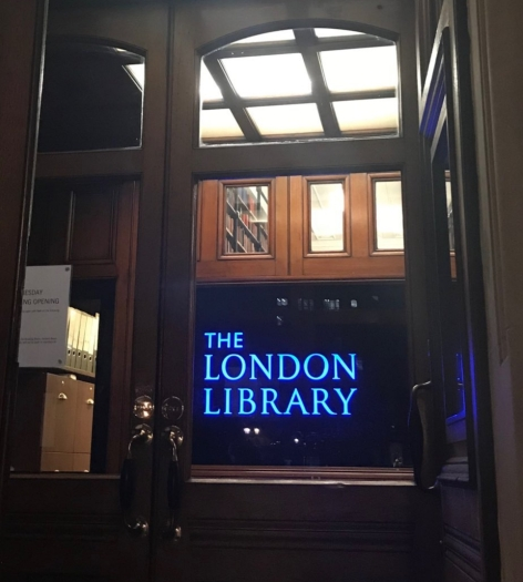 LONDON LIBRARY SIGN